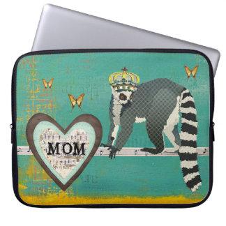King Jullian Mom Teal Computer Sleeve