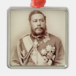 King Kalakaua (1836-91), late c19th (sepia photo) Christmas Ornament