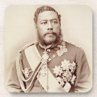 King Kalakaua (1836-91), late c19th (sepia photo) Coaster