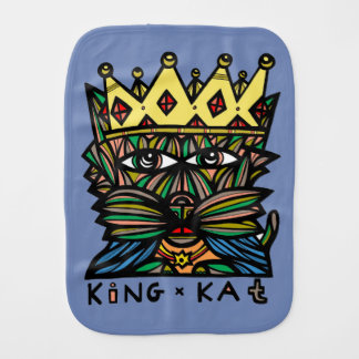 """King Kat"" Burp Cloth"