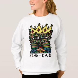 """King Kat"" Girls' Sweatshirt"