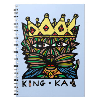 """King Kat"" Spiral Notebook"
