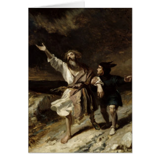 King Lear and the Fool in the Storm Card