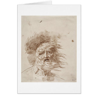 King Lear in the Storm (pen and bistre ink on pape Card