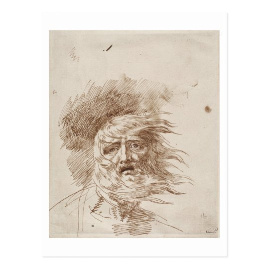 King Lear in the Storm (pen and bistre