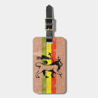 King lion luggage tag