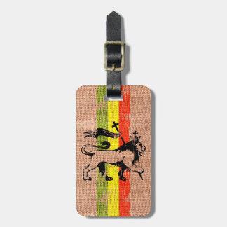 King lion luggage tag