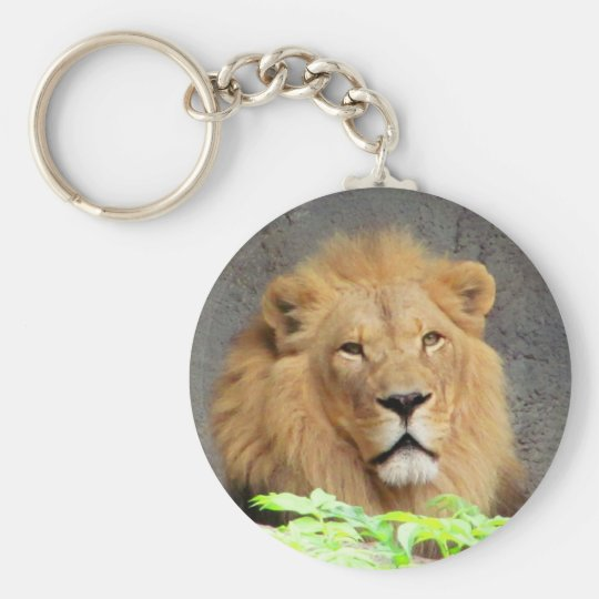 King Lion Mane Man of the Pride Basic Round Button Key Ring