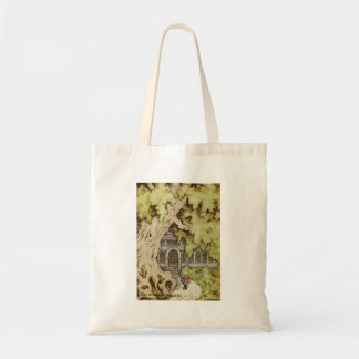 King Looks up into Giant Tree Budget Tote Bag
