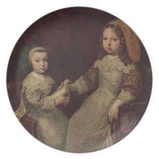 King Louis XIV (1638-1715) as a child with Philipp Dinner Plate