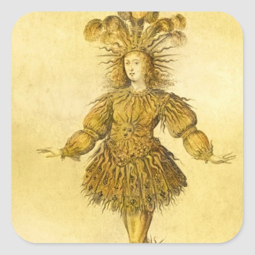King Louis XIV of France Square Sticker