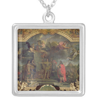 King Louis XIV Orders to Simultaneously Attack Silver Plated Necklace