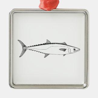 King Mackerel Line Art Christmas Ornament