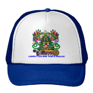 King Mardi Gras Theme Plse View Notes Trucker Hat
