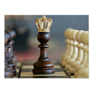 King Me--game of chess Poster