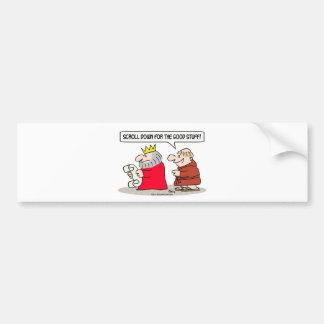 king monk scroll down good stuff bumper stickers