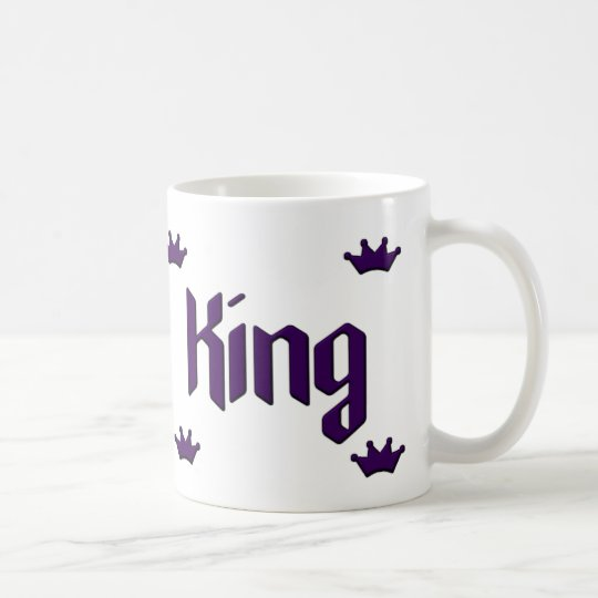 King Mug Purple Crowns