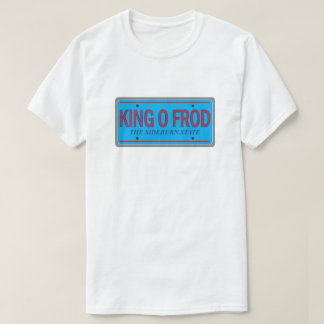 King O Frod Funny License Plate Retro Graphic T-Shirt
