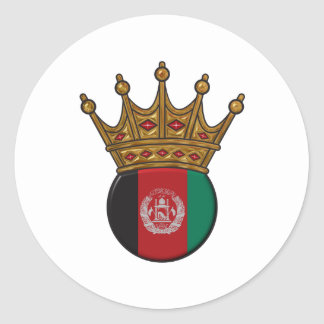 King Of Afghanistan Round Sticker