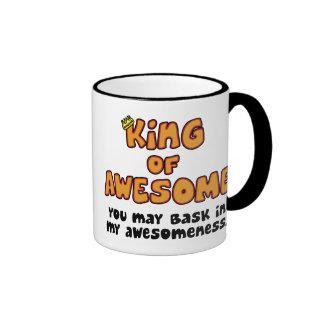 King of Awesome Ringer Mug