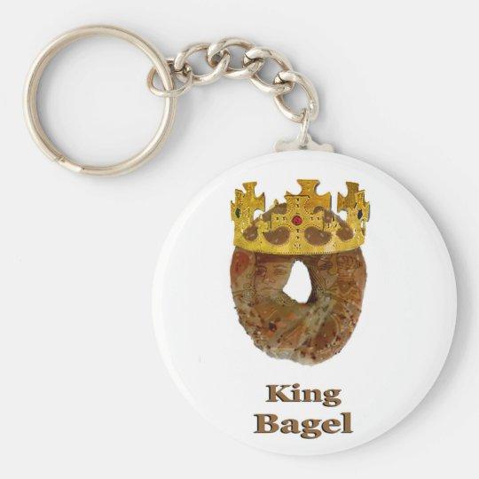 King of Bagels Basic Round Button Key Ring
