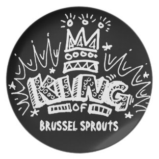 King Of Brussel Sprouts Party Plate