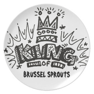 King Of Brussel Sprouts Plate