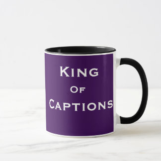 King of Captions Reporter Journalist Editor Funny Mug