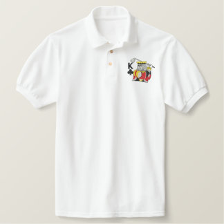 King Of Clubs Embroidered Polo Shirts