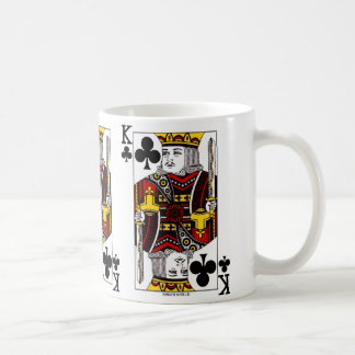 King Of Clubs Playing Card Coffee Mug