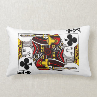 King of Clubs Playing Card Lumbar Cushion
