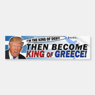 King of Debt Trump Bumper Sticker
