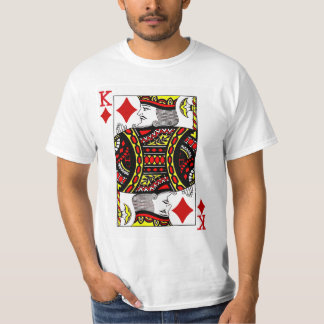 King of Diamonds Playing Card T-Shirt