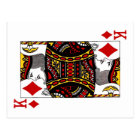 King of Diamonds Postcard