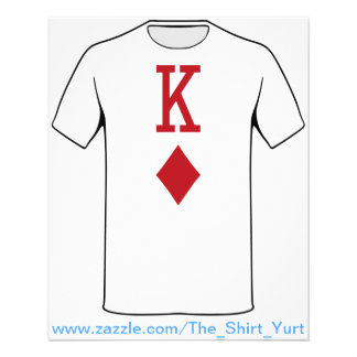 King of Diamonds Red Playing Card 11.5 Cm X 14 Cm Flyer
