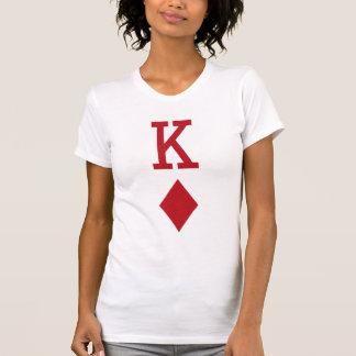 King of Diamonds Red Playing Card Shirt
