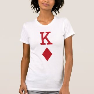 King of Diamonds Red Playing Card T-Shirt