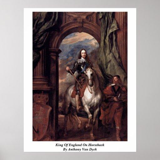 King Of England On Horseback By Anthony Van