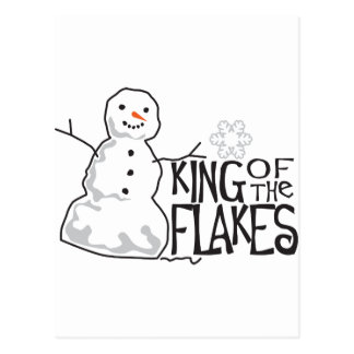 King Of Flakes Post Card
