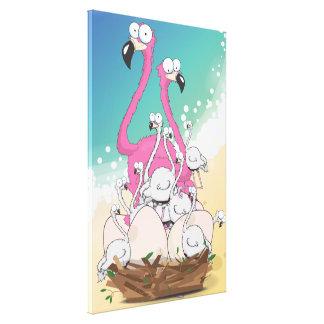 King of Flamingos Canvas Print