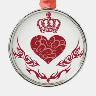 King of heart christmas ornament