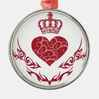 King of heart christmas ornament