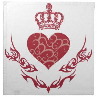 King of heart napkin