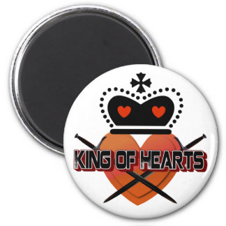King of Hearts 6 Cm Round Magnet