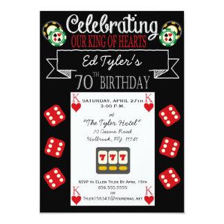 King of Hearts 70th Birthday Party Invitation