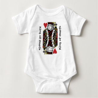 King of Hearts Design Baby Clothing Baby Bodysuit