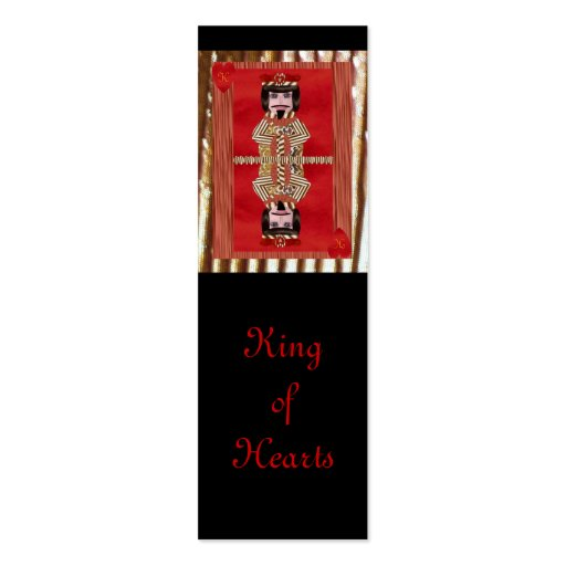 King of Hearts, Mini Bookmarks Business Card Template