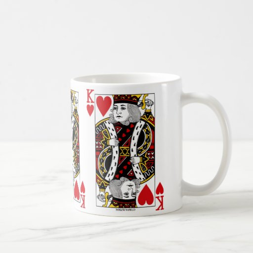 King Of Hearts Playing Card Coffee Mug