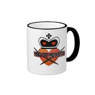 King of Hearts Ringer Mug