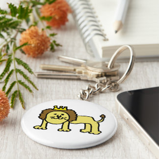 King of hundred animals basic round button key ring